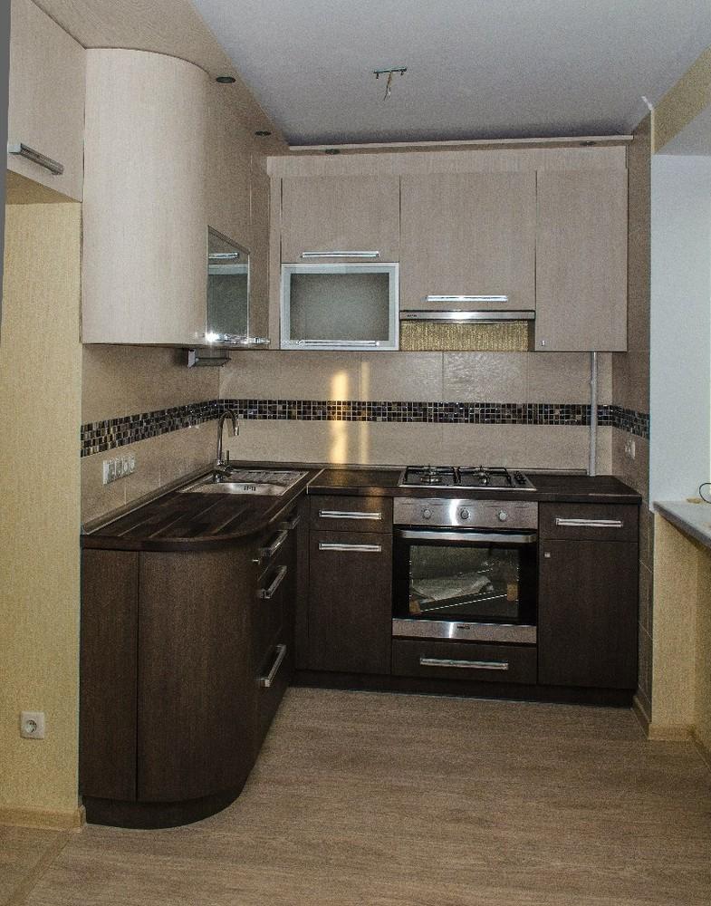 Акриловые кухни-Кухня из пластика «Модель 133»-фото1