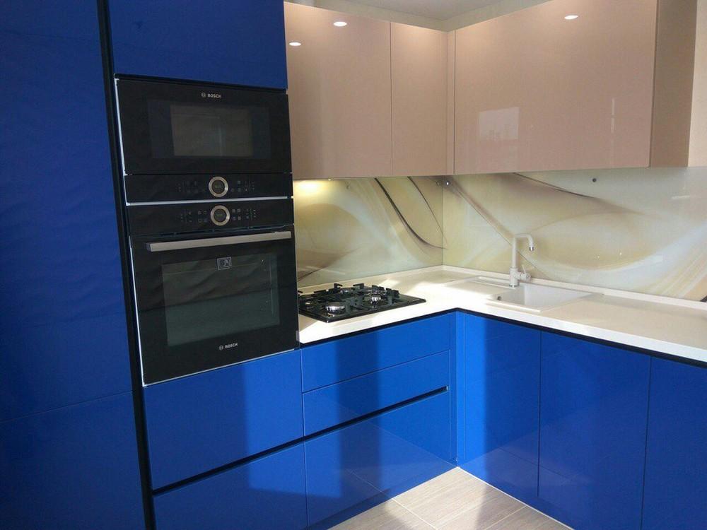 Акриловые кухни-Кухня МДФ в эмали «Модель 164»-фото1