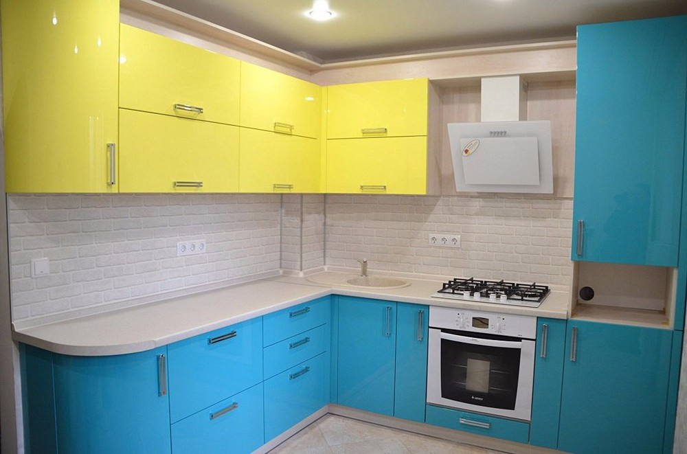Акриловые кухни-Кухня МДФ в эмали «Модель 167»-фото2