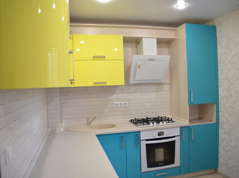 Акриловые кухни-Кухня МДФ в эмали «Модель 167»-фото3