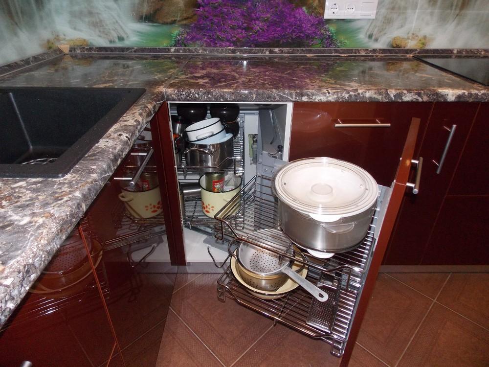 Акриловые кухни-Кухня из пластика «Модель 137»-фото7