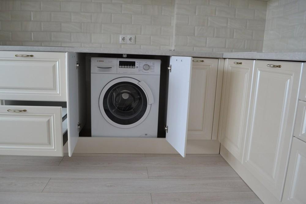 Белый кухонный гарнитур-Кухня МДФ в ПВХ «Модель 204»-фото3