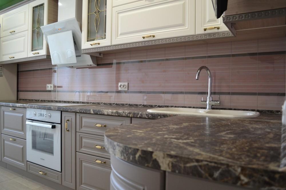 Встроенная кухня-Кухня МДФ в ПВХ «Модель 178»-фото3