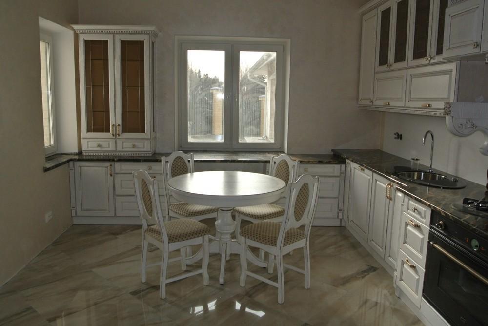 Белый кухонный гарнитур-Кухня из массива «Модель 179»-фото9