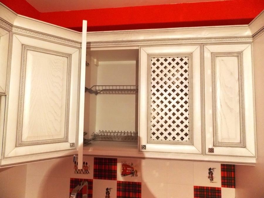 Белый кухонный гарнитур-Кухня из шпона «Модель 13»-фото5