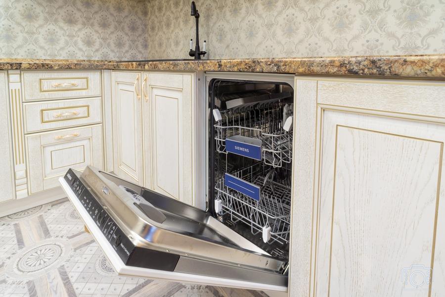 Белый кухонный гарнитур-Кухня из шпона «Модель 8»-фото7