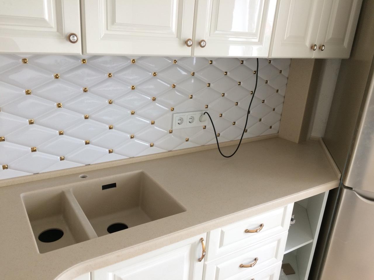 Белый кухонный гарнитур-Кухня МДФ в ПВХ «Модель 11»-фото4