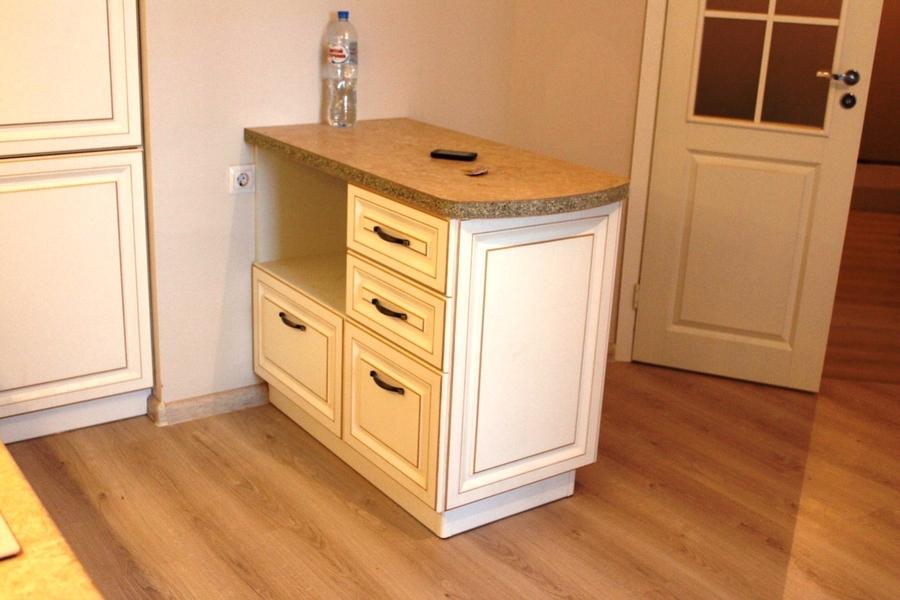 Белый кухонный гарнитур-Кухня МДФ в ПВХ «Модель 39»-фото5