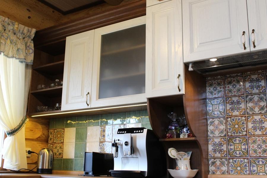 Белый кухонный гарнитур-Кухня из массива «Модель 40»-фото6