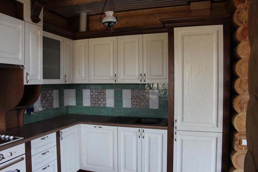 Белый кухонный гарнитур-Кухня из массива «Модель 40»-фото4