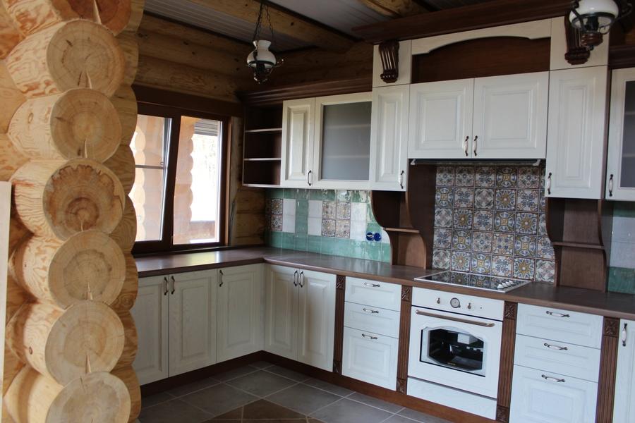 Белый кухонный гарнитур-Кухня из массива «Модель 40»-фото2