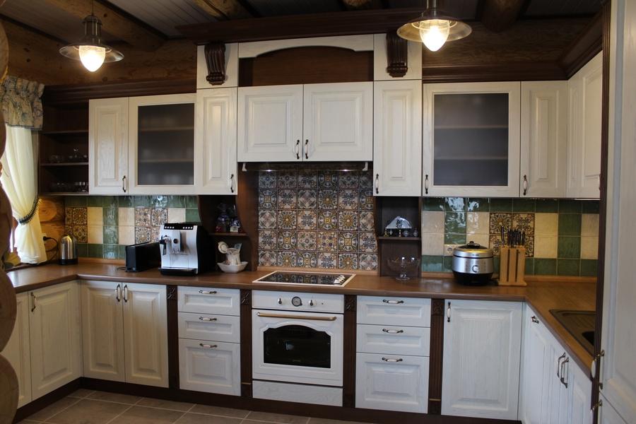 Белый кухонный гарнитур-Кухня из массива «Модель 40»-фото3