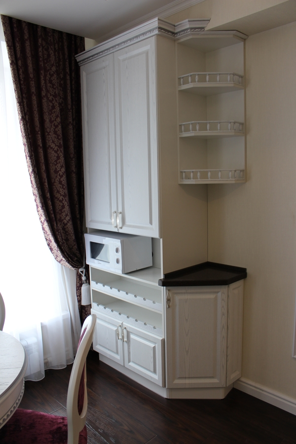 Белый кухонный гарнитур-Кухня из шпона «Модель 43»-фото4