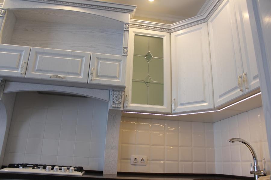 Белый кухонный гарнитур-Кухня из шпона «Модель 43»-фото8