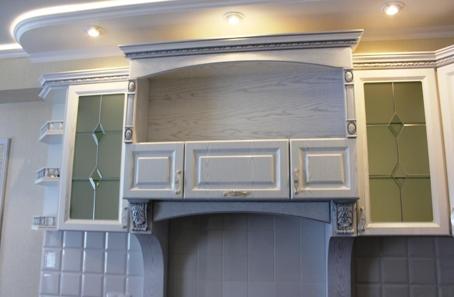 Белый кухонный гарнитур-Кухня из шпона «Модель 43»-фото7