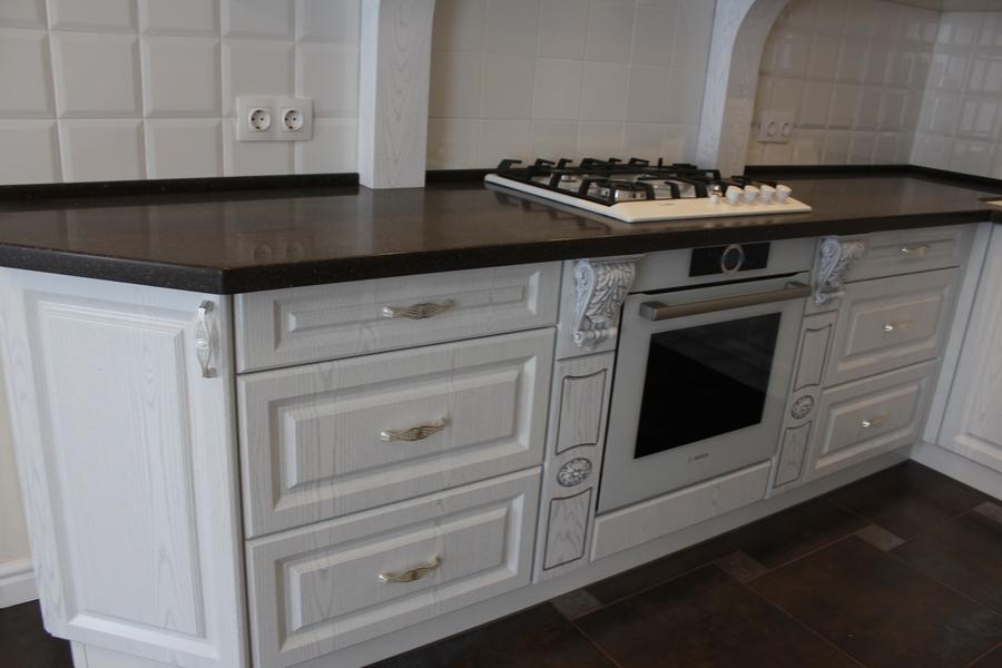 Белый кухонный гарнитур-Кухня из шпона «Модель 43»-фото5