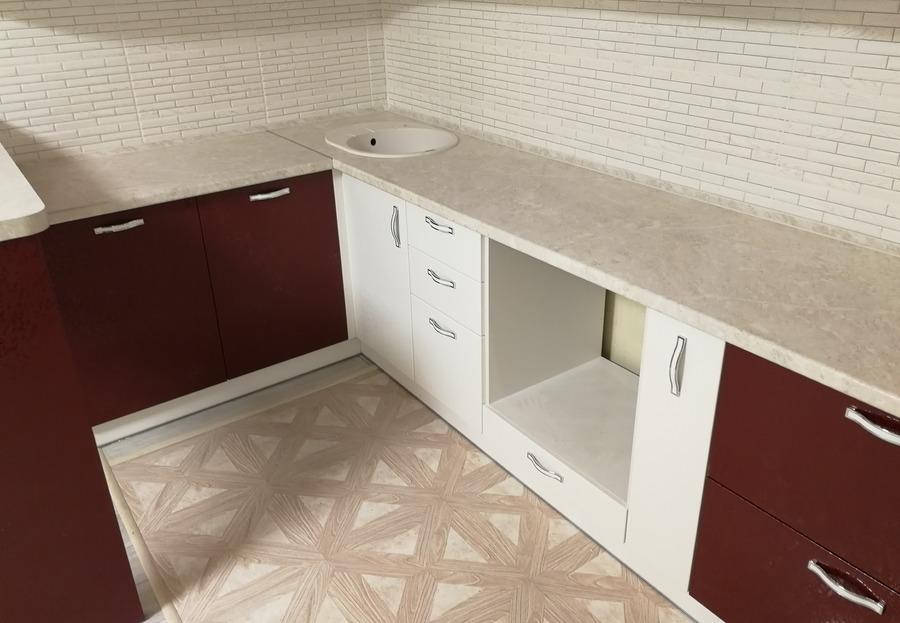 Белый кухонный гарнитур-Кухня МДФ в ПВХ «Модель 52»-фото5