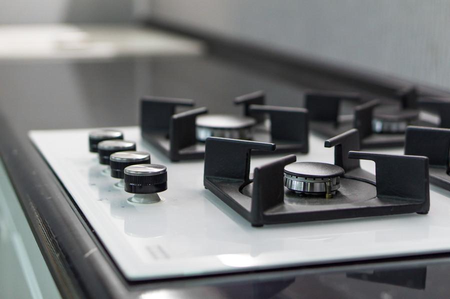 Белый кухонный гарнитур-Кухня МДФ в эмали «Модель 48»-фото9