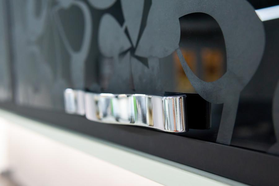 Белый кухонный гарнитур-Кухня МДФ в эмали «Модель 48»-фото10