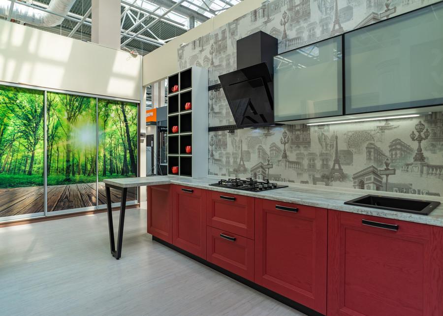 Классические кухни-Кухня МДФ в ПВХ «Модель 51»-фото1