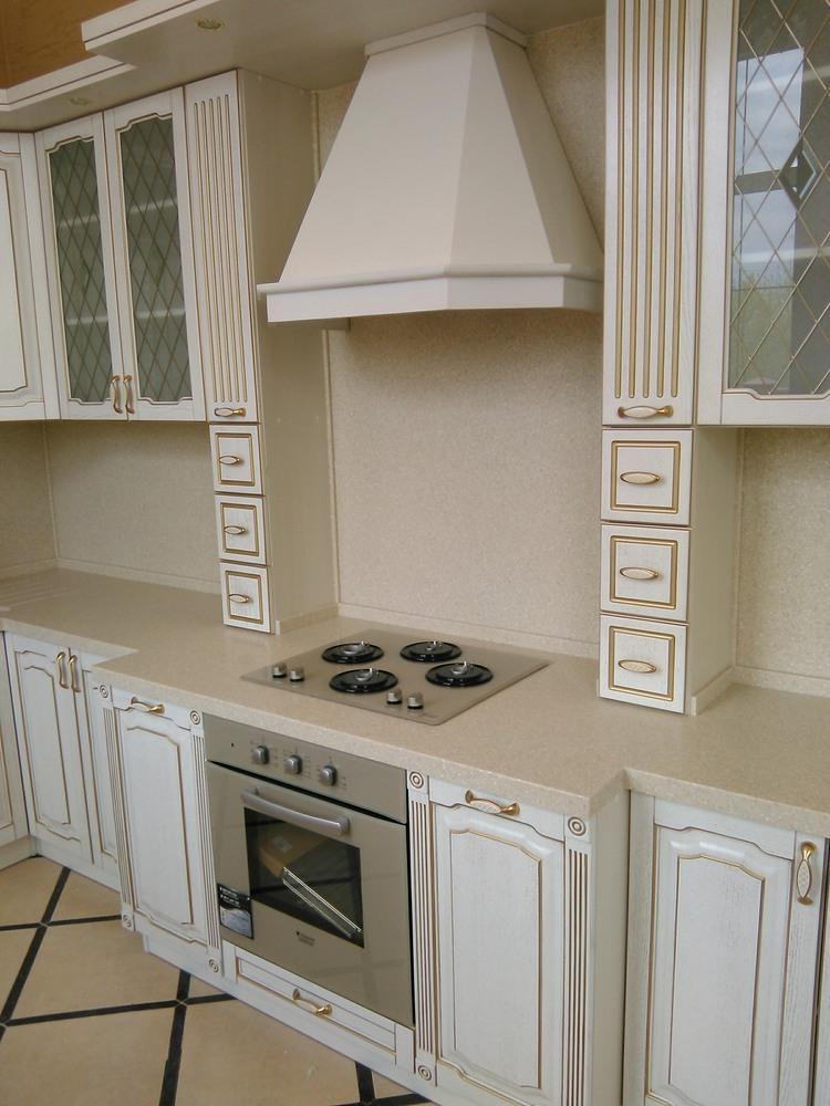 Белый кухонный гарнитур-Кухня из шпона «Модель 341»-фото2