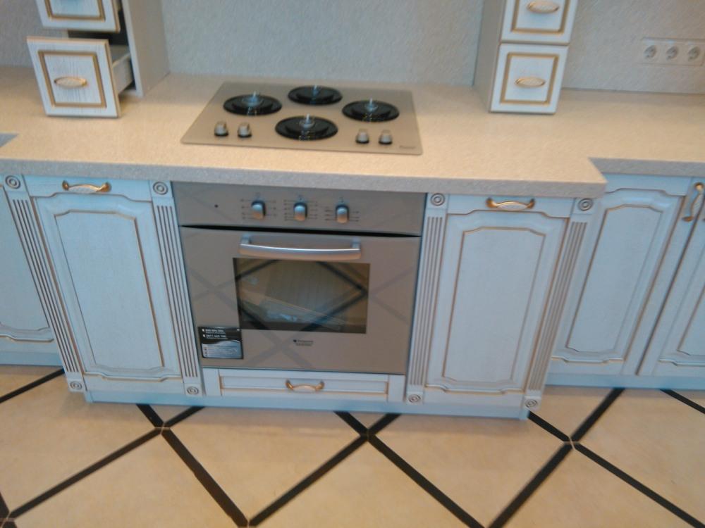 Белый кухонный гарнитур-Кухня из шпона «Модель 341»-фото6