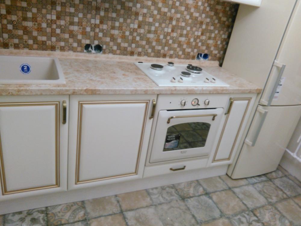 Белый кухонный гарнитур-Кухня МДФ в ПВХ «Модель 340»-фото9