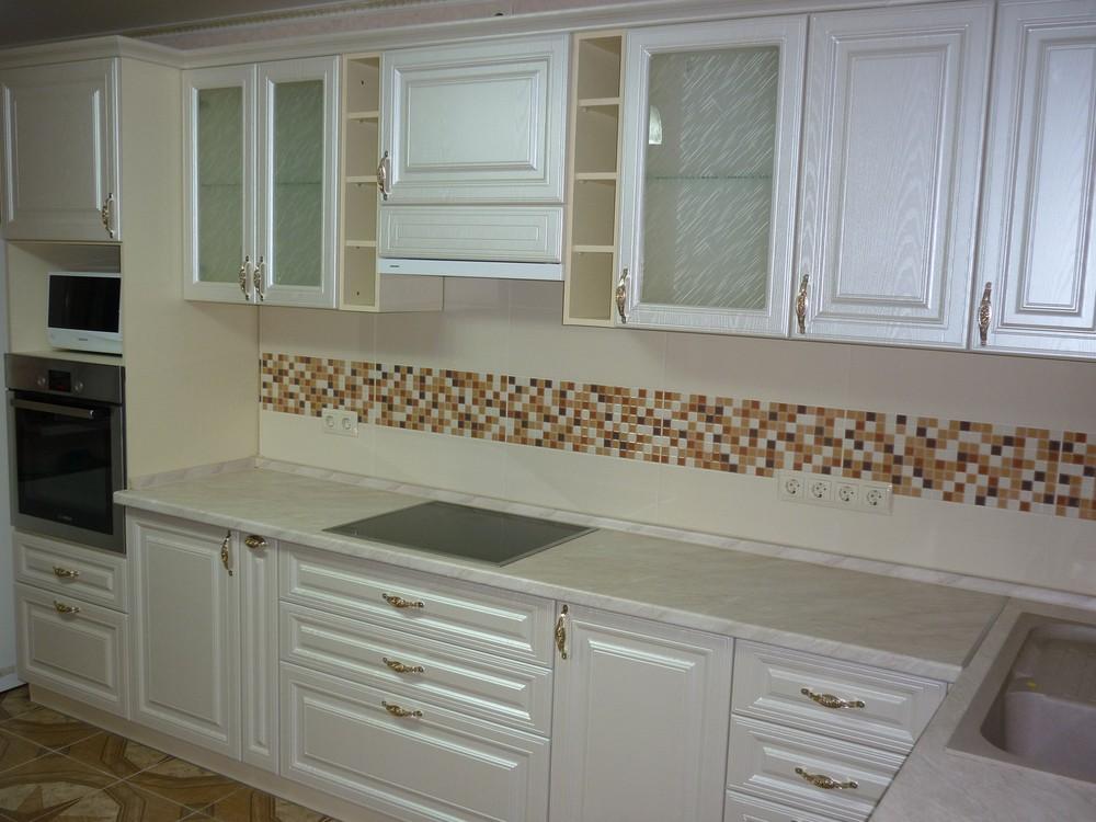 Встроенная кухня-Кухня МДФ в ПВХ «Модель 330»-фото1