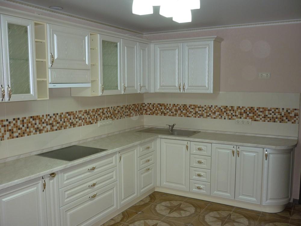 Встроенная кухня-Кухня МДФ в ПВХ «Модель 330»-фото3