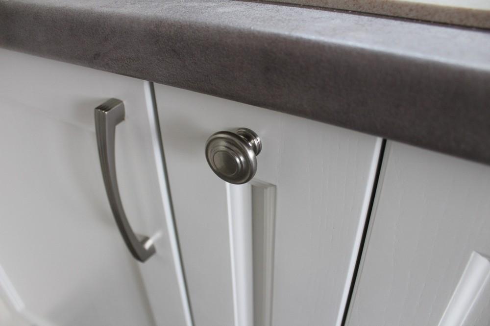 Белый кухонный гарнитур-Кухня МДФ в ПВХ «Модель 294»-фото4