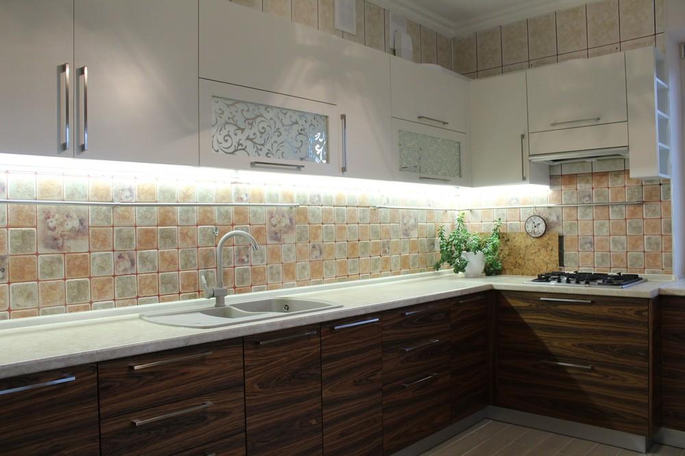 Встроенная кухня-Кухня МДФ в ПВХ «Модель 118»-фото1