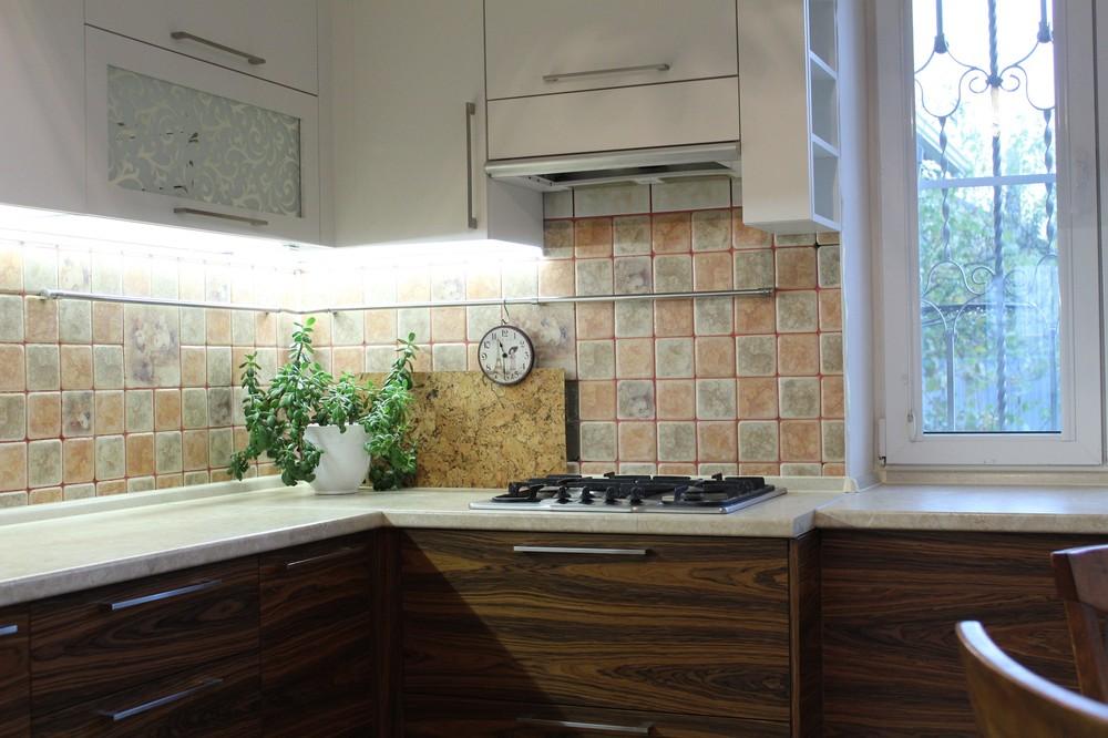 Встроенная кухня-Кухня МДФ в ПВХ «Модель 118»-фото2