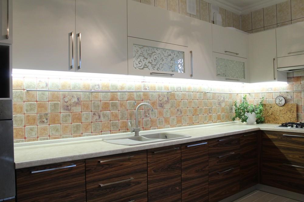 Встроенная кухня-Кухня МДФ в ПВХ «Модель 118»-фото3
