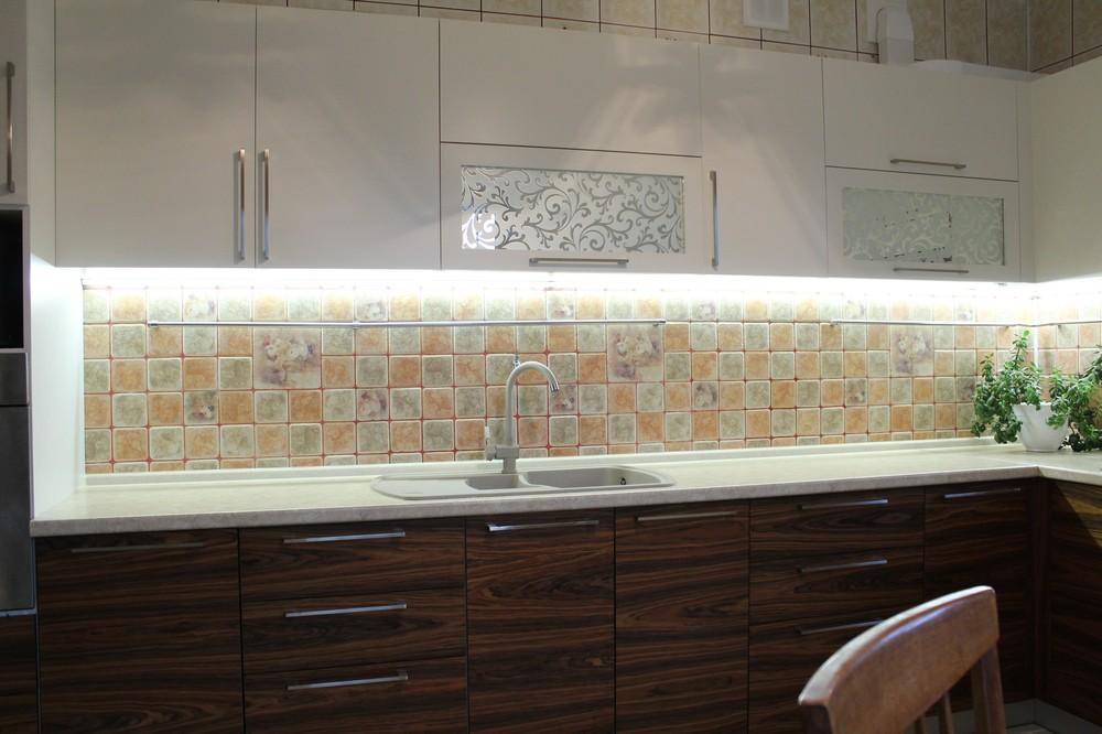Встроенная кухня-Кухня МДФ в ПВХ «Модель 118»-фото4