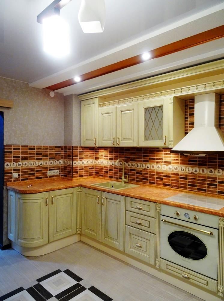 Белый кухонный гарнитур-Кухня МДФ в эмали «Модель 301»-фото1