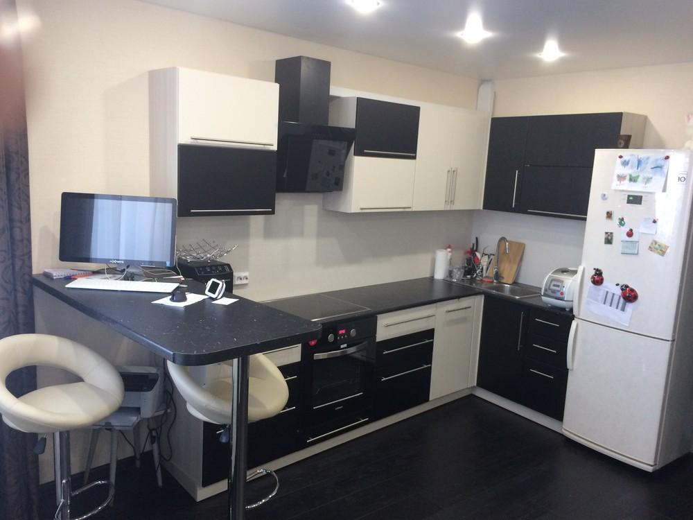 Встроенная кухня-Кухня МДФ в ПВХ «Модель 108»-фото1