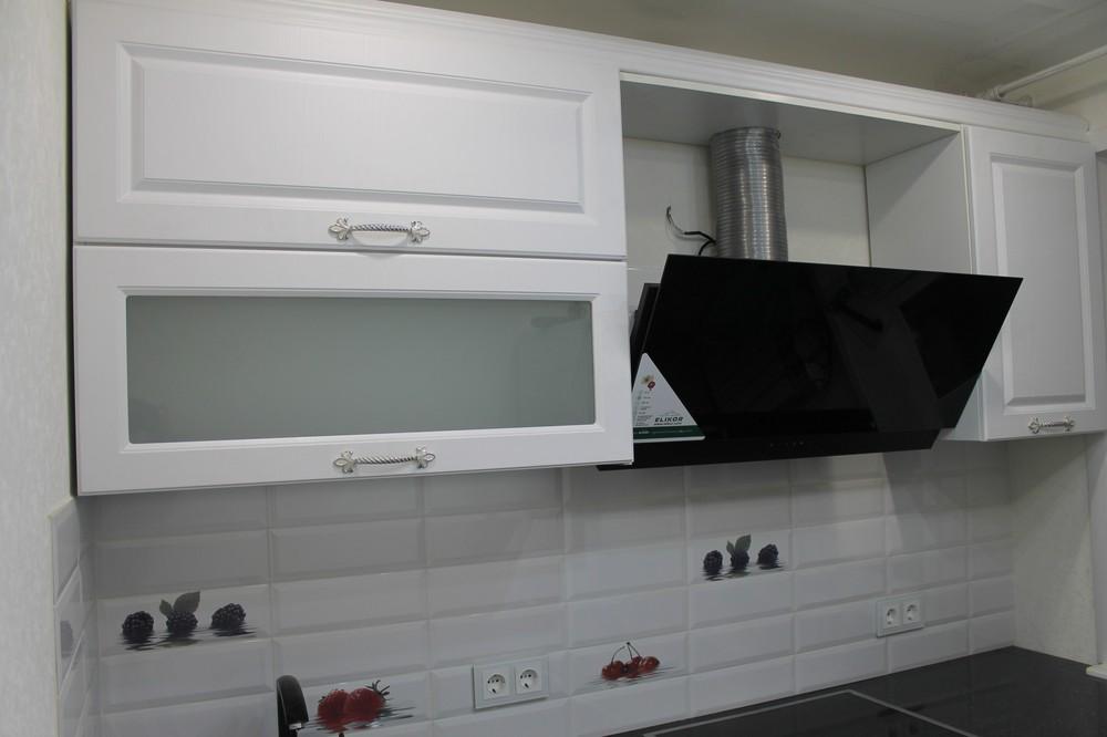 Белый кухонный гарнитур-Кухня МДФ в ПВХ «Модель 332»-фото4