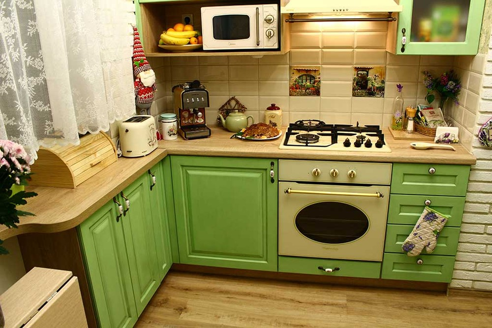 Встроенная кухня-Кухня МДФ в эмали «Модель 120»-фото4