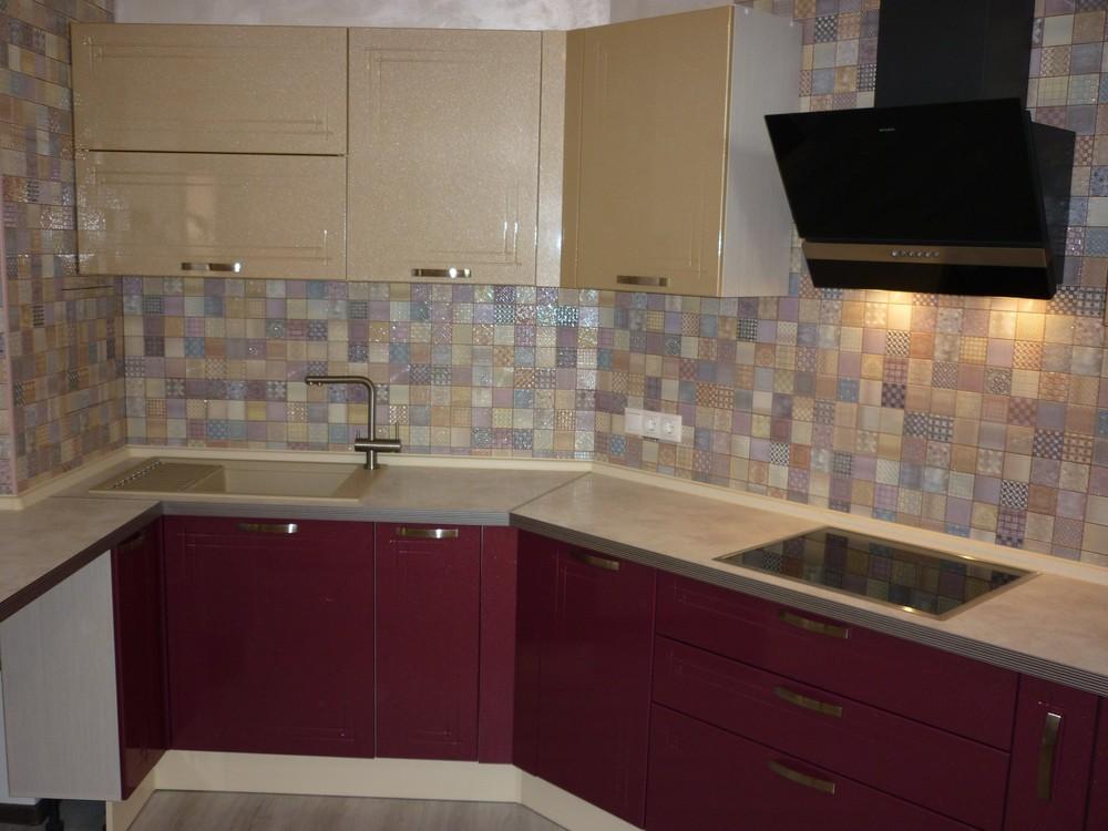 Встроенная кухня-Кухня МДФ в ПВХ «Модель 266»-фото3