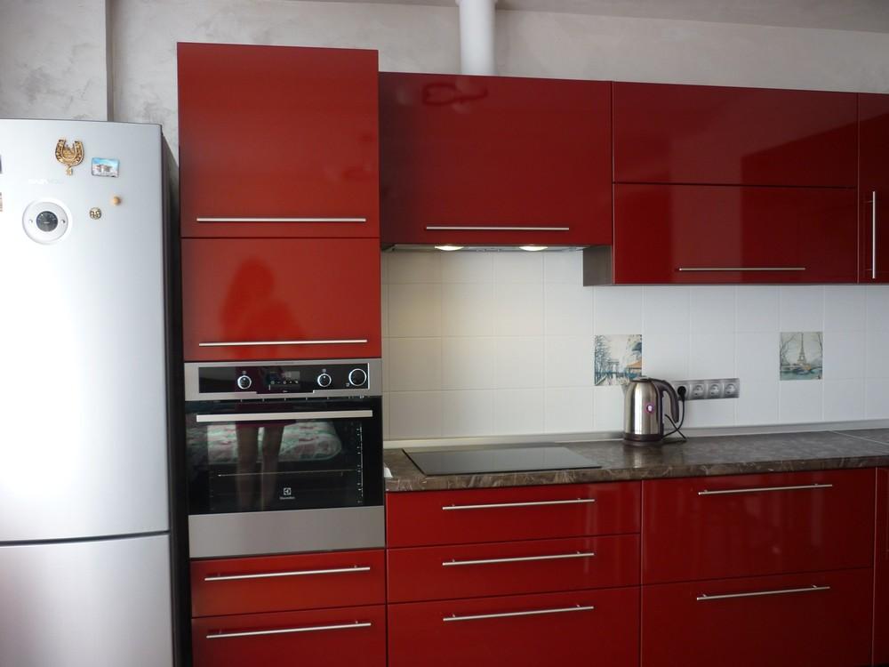 Встроенная кухня-Кухня МДФ в ПВХ «Модель 264»-фото1