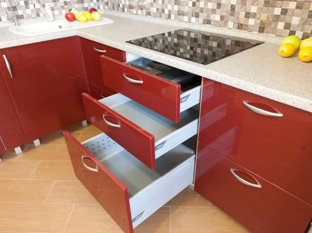Встроенная кухня-Кухня МДФ в ПВХ «Модель 259»-фото2