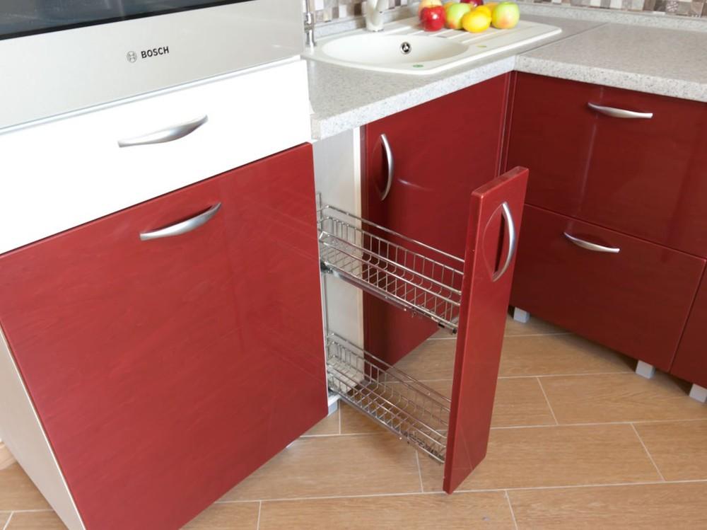 Встроенная кухня-Кухня МДФ в ПВХ «Модель 259»-фото3