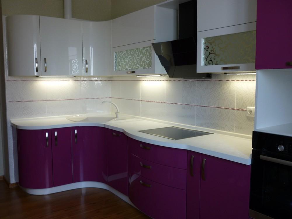 Встроенная кухня-Кухня МДФ в эмали «Модель 237»-фото1