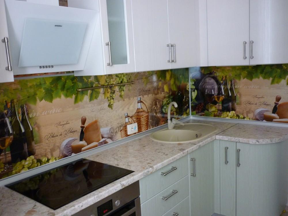Белый кухонный гарнитур-Кухня МДФ в ПВХ «Модель 216»-фото3