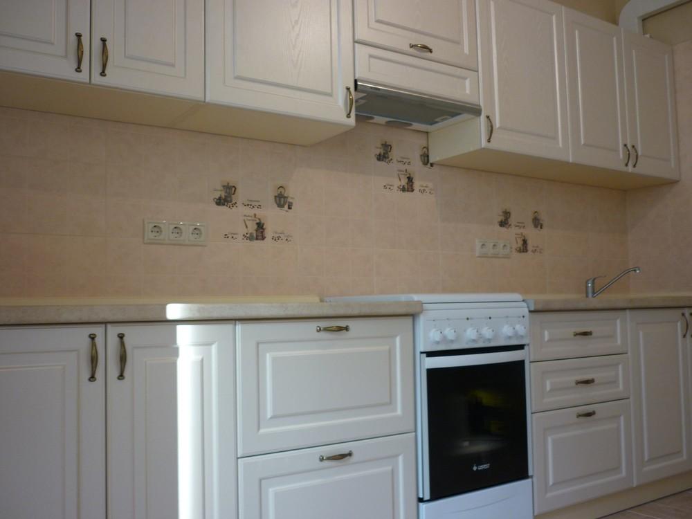 Белый кухонный гарнитур-Кухня МДФ в ПВХ «Модель 222»-фото3