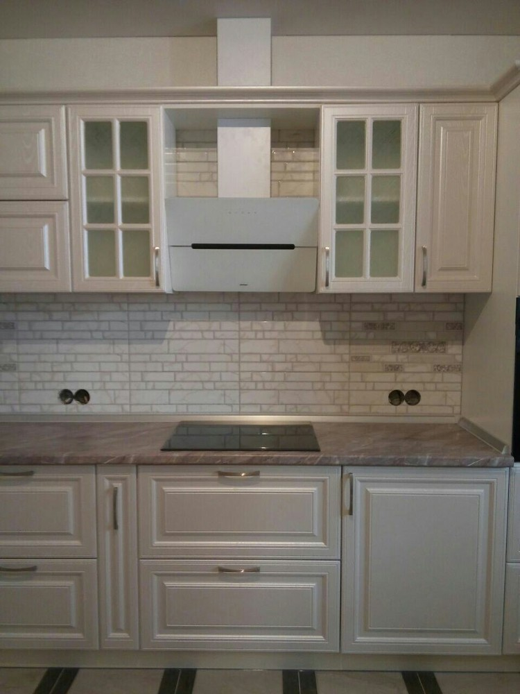 Белый кухонный гарнитур-Кухня МДФ в ПВХ «Модель 228»-фото2