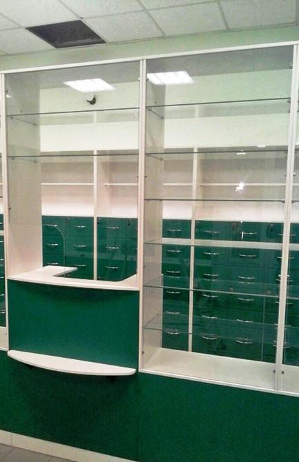 Торговая мебель-Мебель для аптеки «Модель 188»-фото2