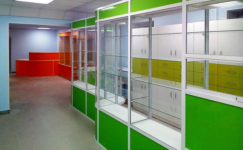 Торговая мебель-Мебель для аптеки «Модель 190»-фото1