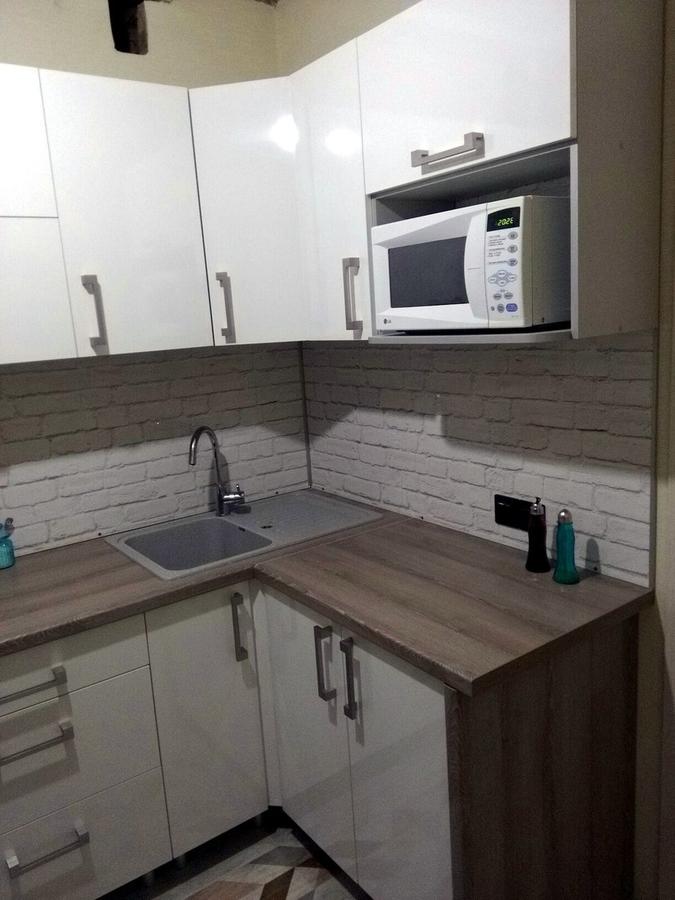Белый кухонный гарнитур-Кухня из пластика «Модель 334»-фото3