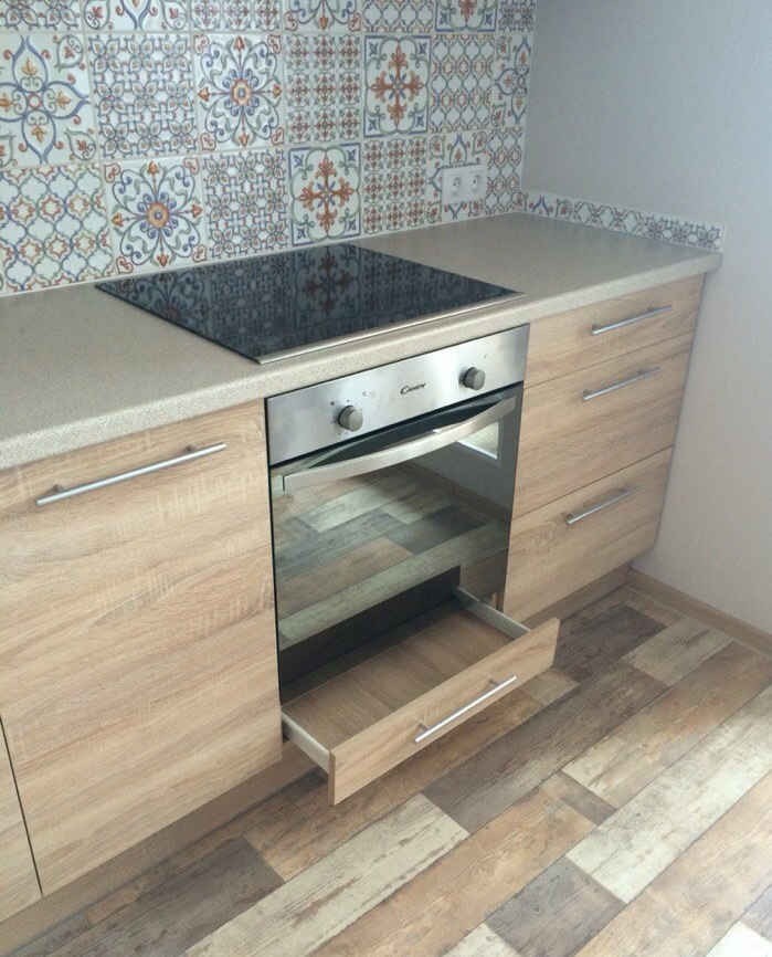Встроенная кухня-Кухня из ЛДСП «Модель 389»-фото4